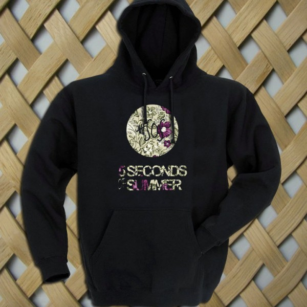 5 seconds of summer floral style hoodiestyle hoodie