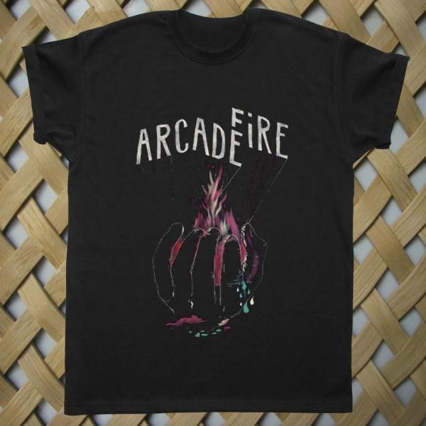 Arcade Fire Hand Logo T shirt