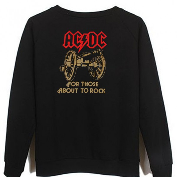 ACDC for those about to rock sweatshirt