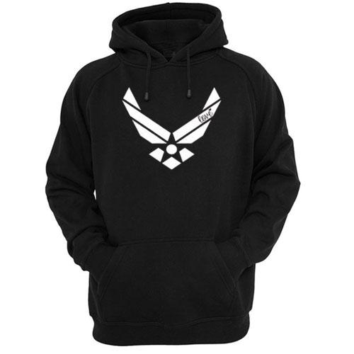 Air force racerback front hoodie