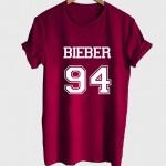 Justin Bieber Shirt Bieber 94 Tshirt Unisex maroon front