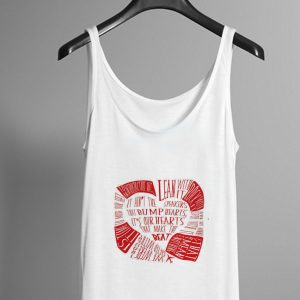 Twenty One Pilots Holding on to you red on white design