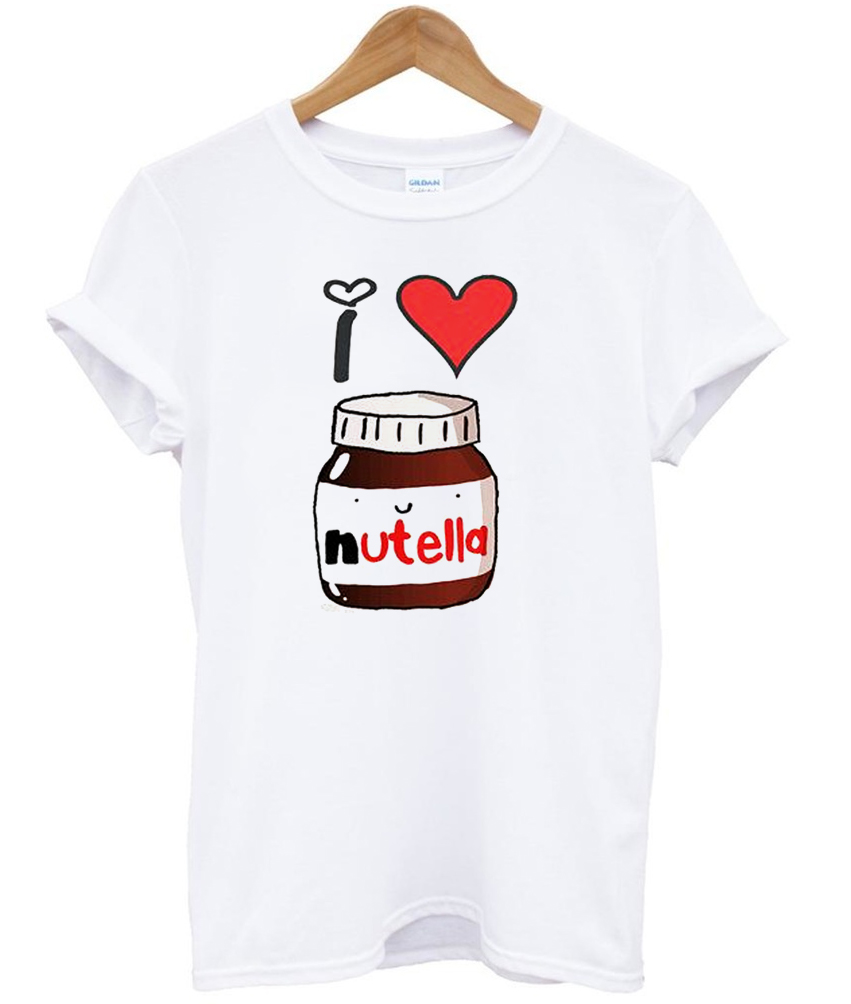 i love nutella t shirt. Black Bedroom Furniture Sets. Home Design Ideas