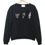 you gesture sweatshirt