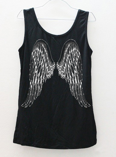 angel wings tanktop back