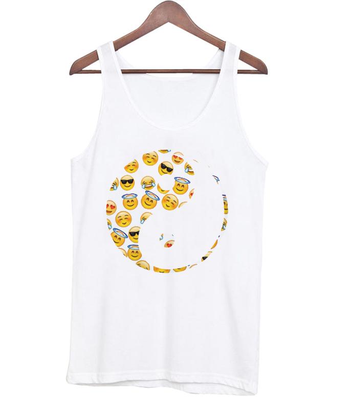 Yin Yang Emoticon Tanktop