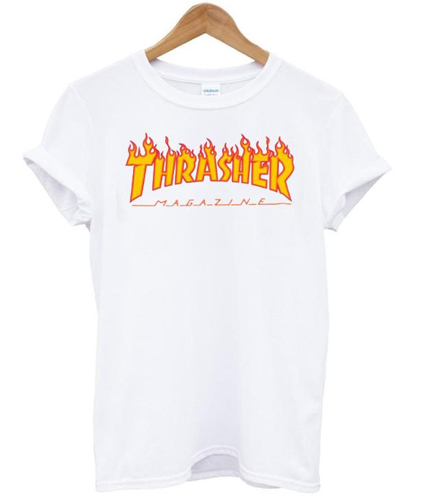 39c440a7fc49 Thrasher Boyfriend T Shirt Source · thrasher magazine fire T Shirt