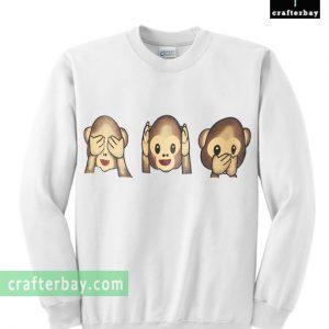 Speak Hear See No evil monkeys Sweatshirt
