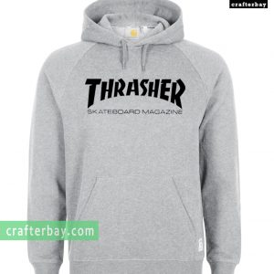 thrasher skateboard magazine grey color Hoodie