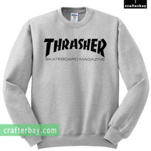 thrasher skateboard magazine grey color Sweatshirt