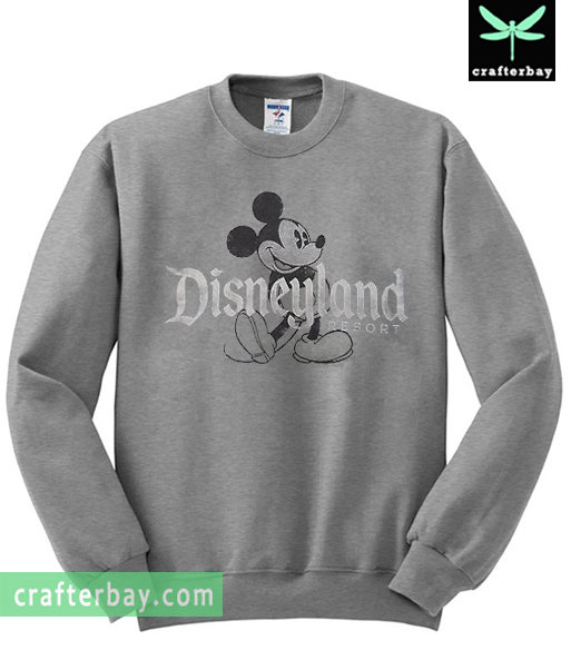 mickey mouse disneyland sweatshirt