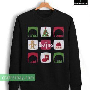 the beatles christmas sweatshirt
