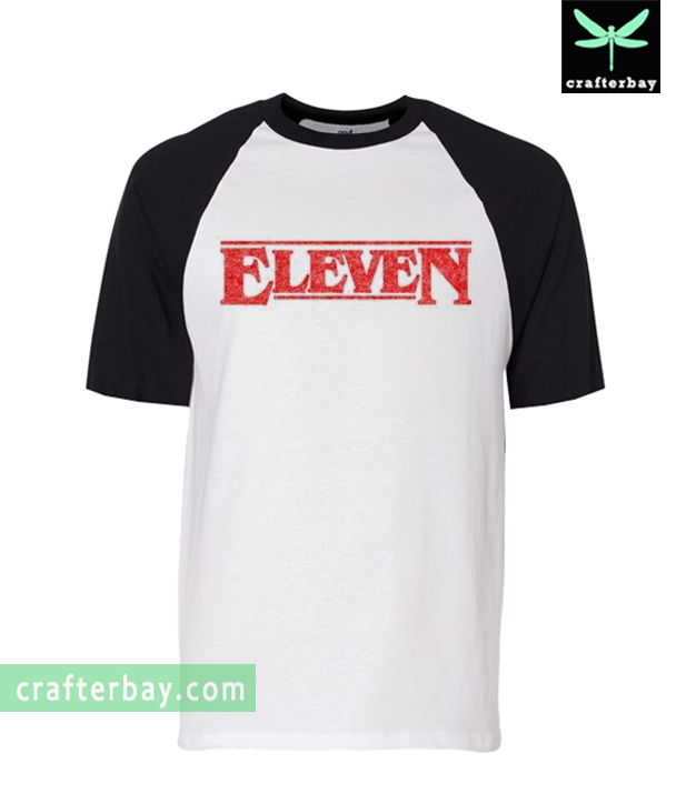 Eleven STRANGER THINGS TV Show Raglan Shirt