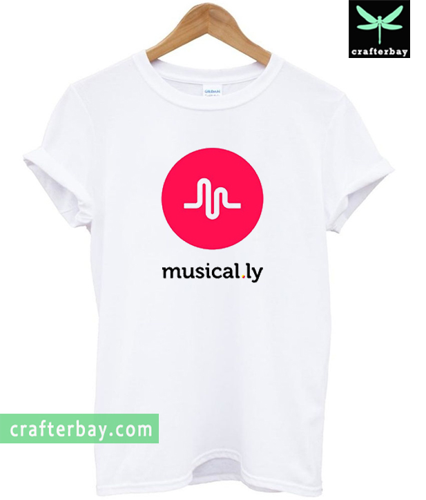 musically logo t shirt. Black Bedroom Furniture Sets. Home Design Ideas