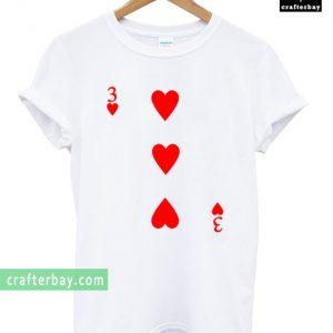 3 Love Heart Card Poker T-shirt