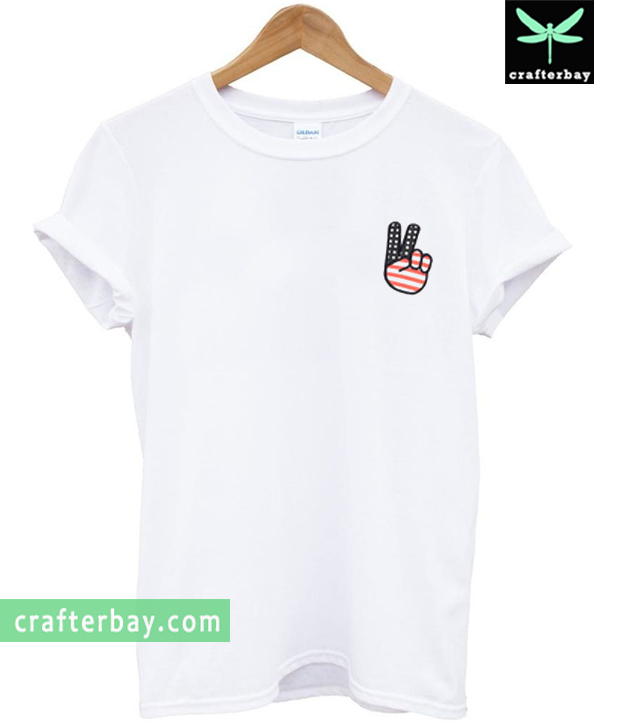 Two Fingers American Flag T-shirt