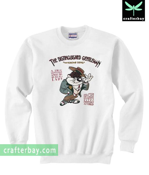 Vintage Taz The Distinguished Gentleman Handsome Devil Sweatshirt
