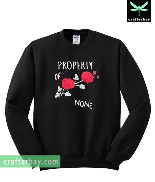 9a730d0f7d9 Property Of None Rose Flower Sweatshirt