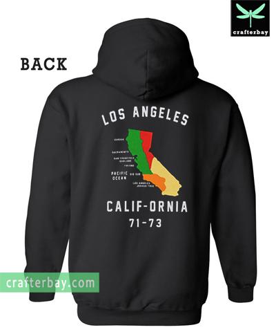 Los Angeles Calif-Ornia 71-73 Back Hoodie
