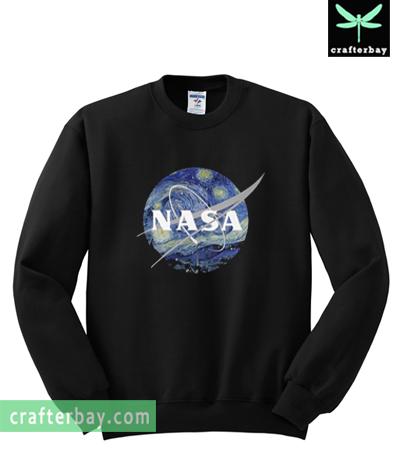 b6b7d9e4cf5 Nasa Starry Night Sweatshirt