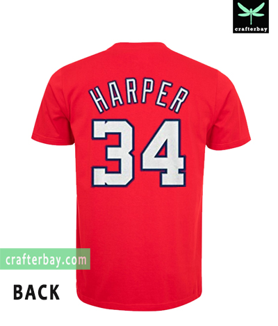 new arrival 0714a 57eea Majestic Bryce Harper Washington Nationals T-shirt