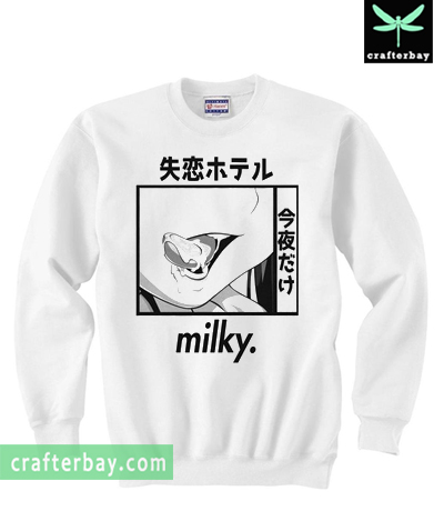 Milky Inverted Sweatshirt