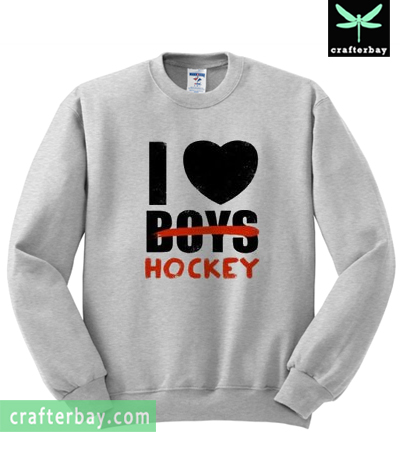 I Love Hockey Sweatshirt