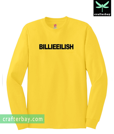 Billie Eilish Yellow Sweatshirt