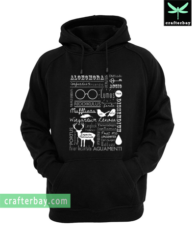 Harry Potter Spells Retro Collage Hoodie