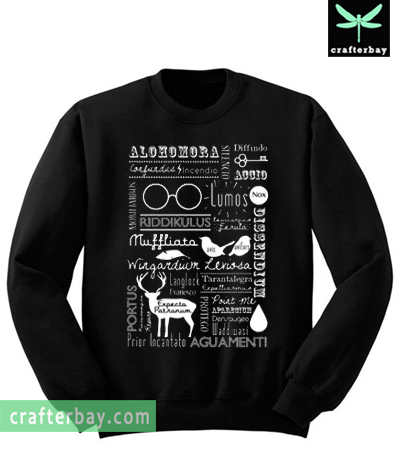 Harry Potter Spells Retro Collage Sweatshirt