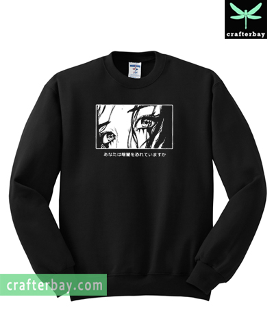 Are You Afraid Of The Dark Japanese Harajuku Anime Sweatshirt