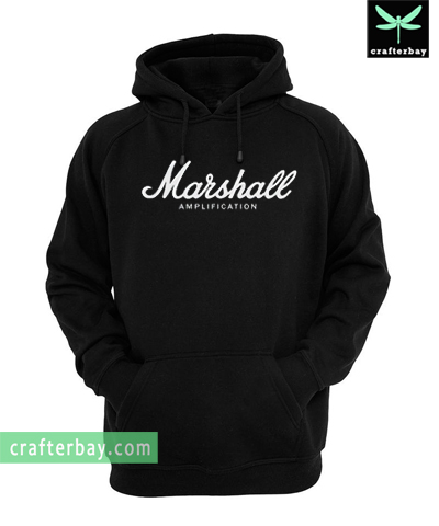 Marshall Logo Amps Amplification Guitar Hoodie